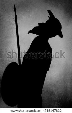 Don Quixote of La Mancha, artistic silhouette