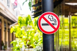 Don't smoke sign in the public