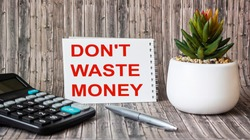 Don't waste money, inspiration, motivation and business concept on white paper