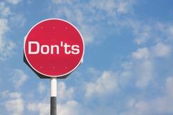 Don'ts Sign