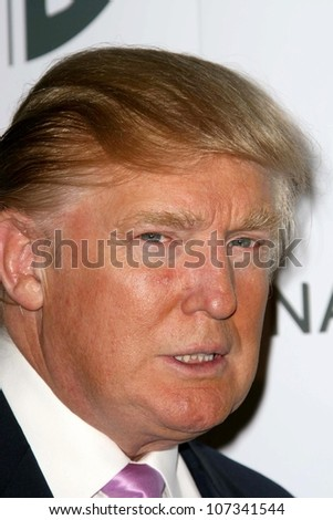 Donald Trump  at a party to introduce the Trump Tower Dubai. The Tar Estate, Bel Air, CA. 08-23-08