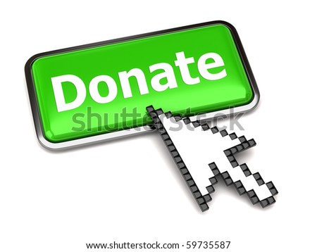 Donate button and arrow