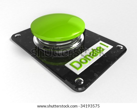 donate button (3d rendering)