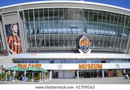 """DONBASS-ARENA, DONETSK, UKRAINE - SEPT 25: Shakhtar Donetsk's new soccer stadium September 25, 2010 in Donetsk, Ukraine. Input in a command museum """"Shakhtar"""" from the """"World"""" prospectus."""
