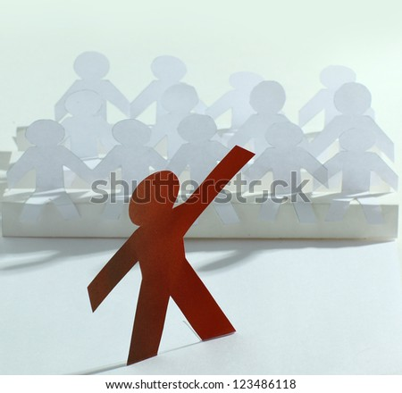 Done out of the paper people. - stock photo