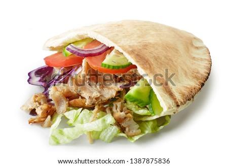 doner kebab isolated on white background Stockfoto ©