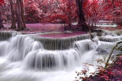 Dong Pee Sua Waterfall,Huay Mae Khamin, Kanchanaburi Province, Thailand