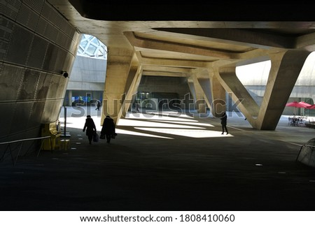 Dongdaemun-gu, Seoul, South Korea/2017.02.24/Dongdaemun Design Plaza designed by Zaha Hadid