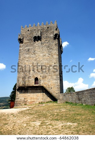 Donjon tower of Montalegre castle, north of Portugal