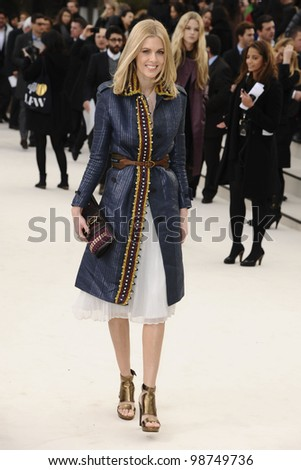 Donna Air arriving for the Burberry Prorsum fashion show as part of London Fashion Week 2012 A/W in Kensington Gardens, London. 20/02/2012 Picture by: Steve Vas / Featureflash