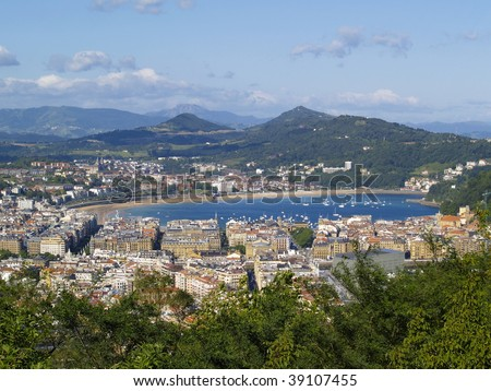 Donostia - San Sebastian, view from Mount Ulia, Basque Country, Spain