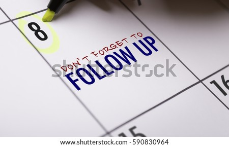 Dont Forget to Follow Up