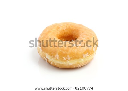 Donut isolated in white background