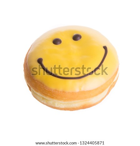 donut or donut with concept on a background