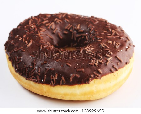 donut with chocolate cream