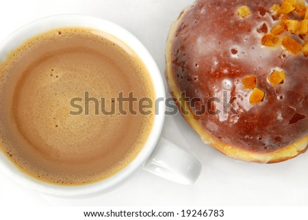 Donut with coffee