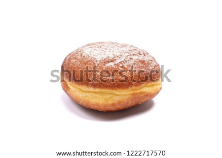 Donut with icing sugar isolated on white background. Сток-фото ©