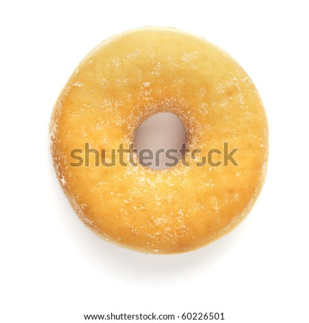 donut with sugar isolated on white