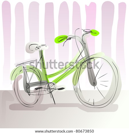 doodle bike - for vector version see image no. 80366722