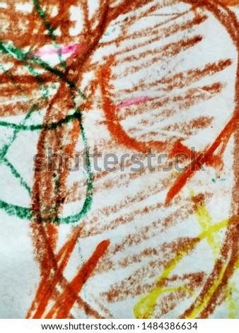 Doodle Childish Drawing. Vivid Funky Ornate Sketch. Spotted Texture. Free Hand Stroke Banner. Abstract Dirty Painting. Funky Ornate Sketch. Color Pencil Graffiti.