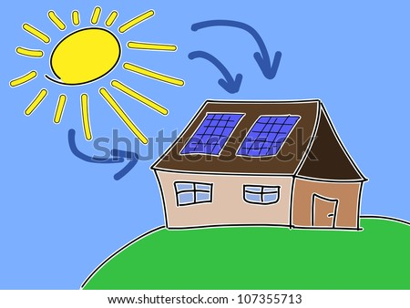 Sunpower House Renewable sun power with