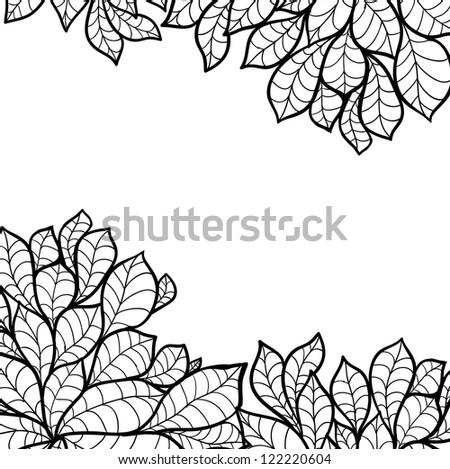 Doodle seamless chestnut leaves background. Raster.
