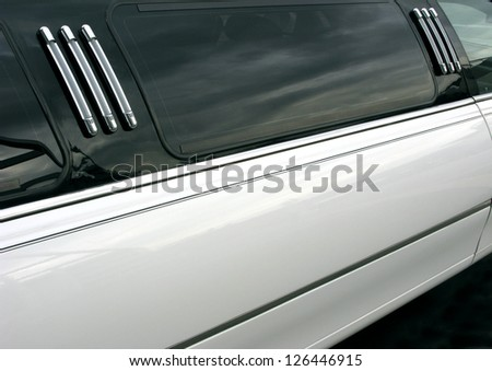 Door and body of a limousine