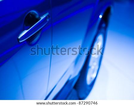 Door car - detail of a luxury car