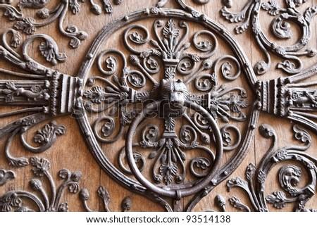 Door detail of Notre Dame de Paris