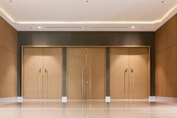 door entrance of hall in hotel