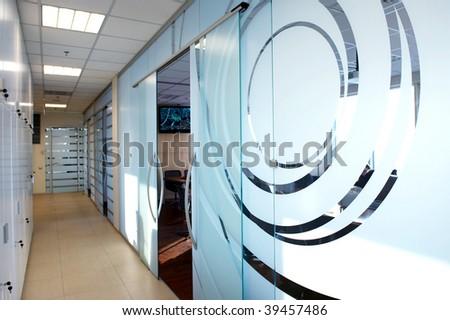 door glass business office