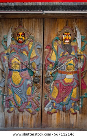 Door-god #667112146 & Free photos Chinese door god | Avopix.com