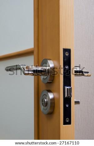 door handle, close-up - stock photo