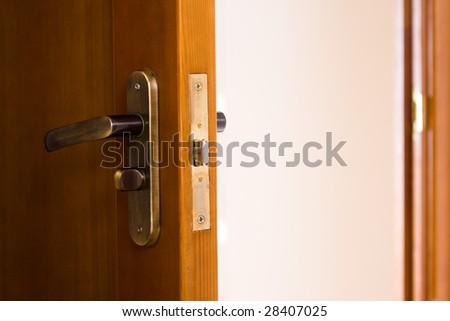 Door handle copper door knob