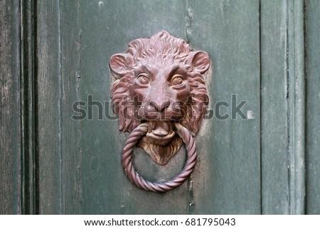 door handle in venice Stok fotoğraf ©