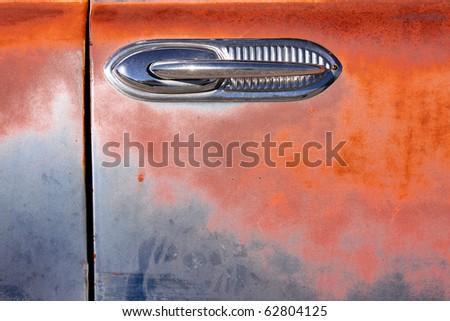 Door handle of old car