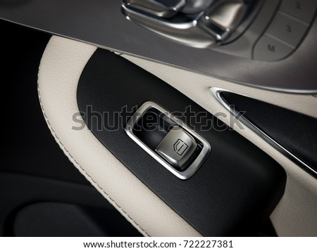 Car Door Lock Button To Door Handle With Windows Control Buttons Of Luxury Passenger Car White Leather Interior Free Photos Car Lock Button Closeup Electric Locking In
