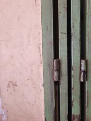 Door Hinge. Old and rusty door hinge.