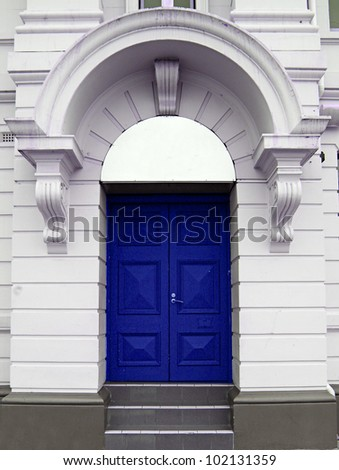 door in a white arch