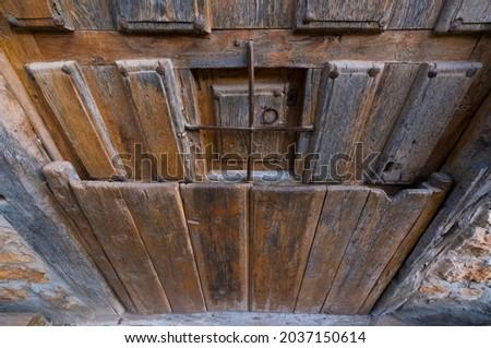 Door in Calatañazor village in Soria province of Castilla y Leon Autonomous Community of Spain, Europe Zdjęcia stock ©