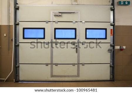 Door in garage