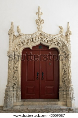 Door in manueline style, palace of Sintra