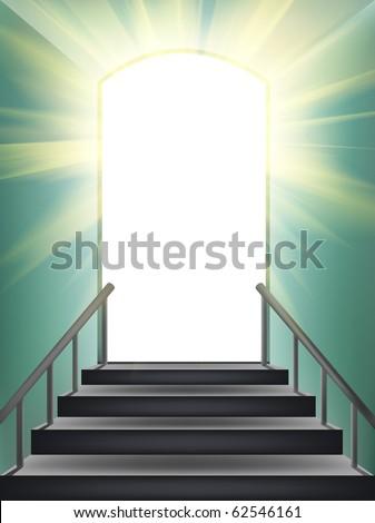 Door in paradise. Element of design.