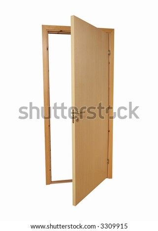 door, isolated on a white background