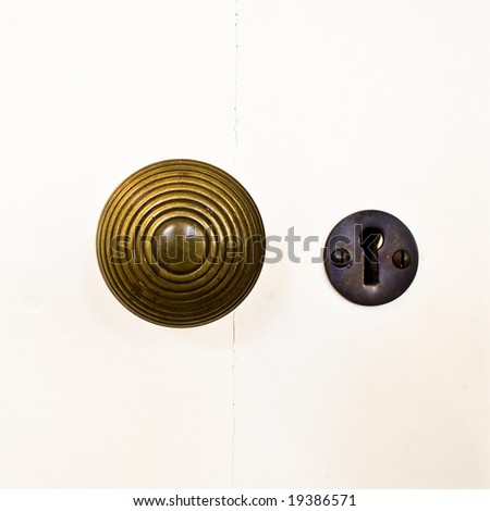 door knob and key hole