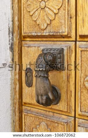 Door knob in Venice, Italy