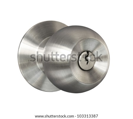 Door knob isolated on white background