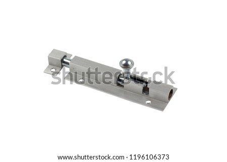 Door latch isolated on white background - Shutterstock ID 1196106373
