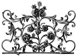 Door lattice, France, 18th century - an illustration to article