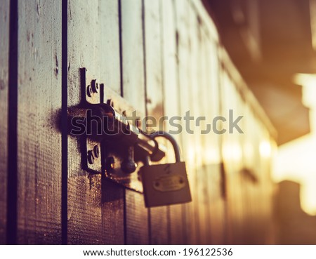 door lock old rusty background #196122536